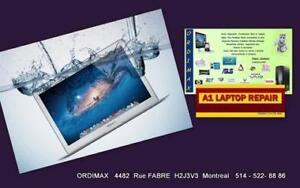 J'ai renversé de l'eau sur mon Laptop ?? Service Urgent a tout Montréal    ORDIMAX   514 522 888