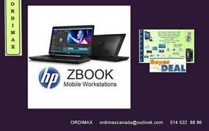 "HP ZBook Laptop Professionel Intel i7- Quad Core 15 ""Workstation / 32 Memoire  Ram / 500 GB /7200 Excelent condition"