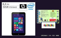 HP Tablette Stream 8 Excellent  voyages, 32 gb, window 8.1etplus