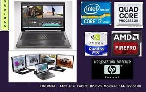 "HP ELITEBOOK 8560W 15"" Intel  i7 (4 Core ,8 Threads) Disque SSD,  Laptop Professional, Vidéo Graphique Nvidia Pro 2 GB"