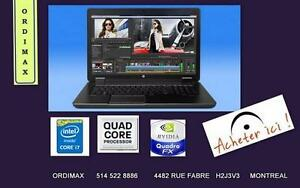 8770W HP Workstation Intel  i7 QuadCore 32MoRam /128 SSD + 1 Tera  DD /Video 4GB NVIDIA / Laptop Professionnel  & Gaming