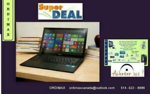 Sony VAIO Pro SVP132 Ultrabook Professionnel 13 Touchscreen/Intel i5 / 8 Gb RAM/ 128 Gb SSD/ Carbon Black Condition A1