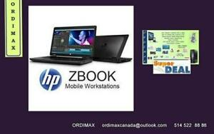 "**HP ZBook 15 ""Laptop Professionals Intel Core i7- 8 Threads Quad Core Disque  dur 480Gb SSD Graphics two carte graphics"
