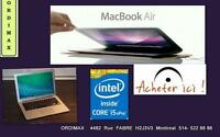 Macbook Air  Intel i5  2011/ early 2012  Écran brillant Excellent  Condition prêt  travail