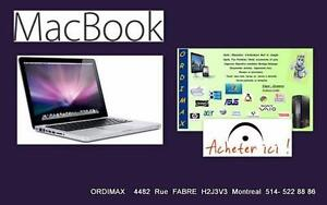 "MACBOOK 13"" / Disque Dur SSD/ 4 Gb Memoire RAM"