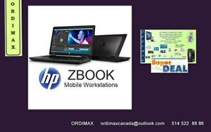 HP ZBook Laptop Professionel Intel i7- Quad Core Workstation 15""