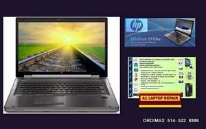 8770W HP Workstation i7 Quad Core 32 Memoire , 2 Terabytes  Disque dur +128 SSD, Vidéo ,4GB Laptop Professionnel
