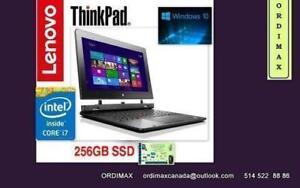 "Lenovo  ThinkPad Helix Intel i7 Ultrabook Laptop  Tablette Téléphone Hybride 8Gb Memoire/ 256 SSD/ 12""po"