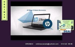 "i7 HP Z Book 15"" Laptop Workstation Professional Intel i7 Quad Core ,Video Nvidia Quadro  Intel i7 (4ieme Gen )"