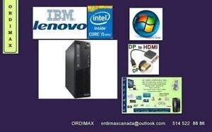 Intel i5   Minni  Desktop  LENOVO IBM  Intel Core  i5 -  3.1 GHZ  / 4Gb Memoire    / COA WINDOW  7