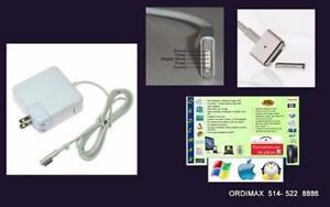 Apple Chargeur Universel pour  Laptop Apple Macbook Pro et  Macbook Air  45w , 60w, 85w,  Macsafe1 , Macsafe2
