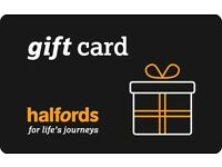 £150 HALFORDS GIFT CARD - spend on anything - EASTER PRESENT bike bmx helmet locks scooters car oil