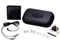 Klipsch Image X10 Noise-Isolating Earphone and zipper headphone case kit