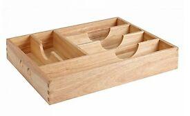 Bargain Rubberwood cuttlery tray