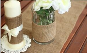 """54"""" x 12"""" Burlap Table Runner Or For Your Small Shrubs"""