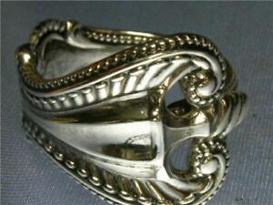 Towle-Old-Colonial-Sterling-Silver-Spoon-Ring-1895-Sz-7-11-Deep-Relief