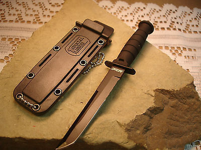 "6"" Black MTech Tanto Blade Kabai Rescue Neck Knife w Chained Sheath MT-632TB zix on Rummage"