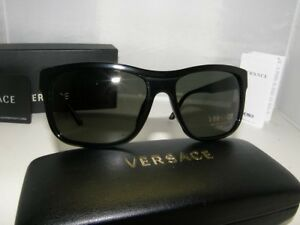 c4548fa9cf Versace Ve 4179 Sunglasses Polarized. Authentic VERSACE Polarized Black Sunglass  VE 4179 - GB1 58  NEW
