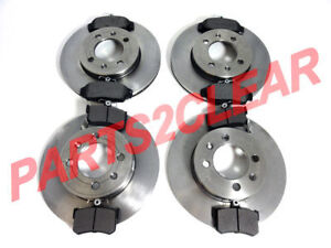 MGTF MG TF FRONT & REAR BRAKE DISCS & PADS 2002-2005