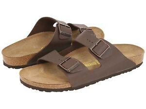 Birkenstock-Mens-Shoe-Sandal-Arizona-Dark-Brown-US-9-10-11-12-EU-42-43-44-45-46