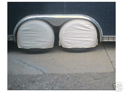 8 WHEEL / TIRE COVERS MOTORHOMES CARS TRAILER TRUCK RV CAMPER RACING HAULER