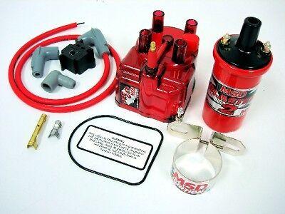 94-97 Honda Del Sol B16 Msd External Coil Red Distributor Cap Conversion Kit