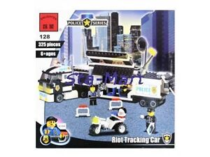 NEW 325PC BRICK POLICE SERIES RIOT TRACK CAR TRUCK BUILDING MODEL TOY GIFT 128