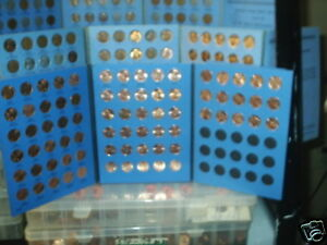 1909 - 2013 Lincoln Cent Set; Wheat. & Mem.; PDS; Circ. & BU!! In Coin Folders!!