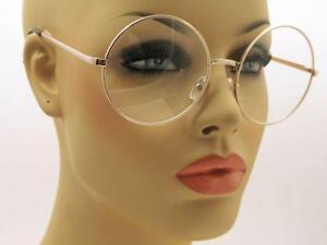 New-Extra-Large-Huge-Oversized-Vintage-Round-Doctor-Gold-Frame-Sunglasses-Retro