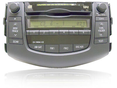 06-11 Toyota Rav4 Radio Stereo 6 Disc Changer Mp3 Cd Player 51874 Factory Oem