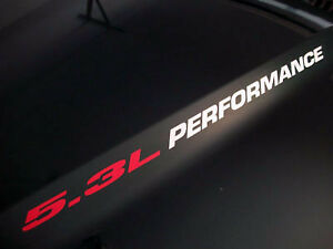 5-3L-PERFORMANCE-pair-Hood-sticker-decals-emblem-Chevy-Silverado-GMC-Sierra