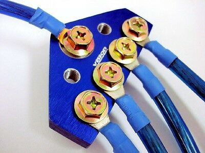 Chevy Cavalier 10mm Vision Ground Wire System Kit Blue