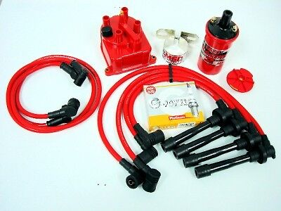 PRELUDE H22 MSD COIL WIRES PLUGS DISTRIBUTOR CAP KIT