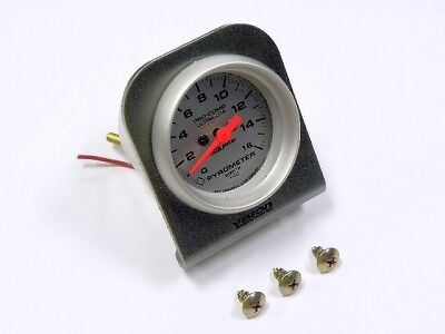 Water Temp Oil Pressure 2-1/16 Gauge Pod Holder Silver