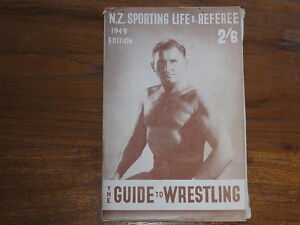 1949 NZ SPORTING LIFE & REFEREE Wrestling Guide,Earl McCready,Lofty Blomfield