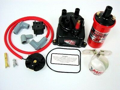 88-91 Honda Civic Msd External Coil Distributor Cap Conversion Kit Blaster 2