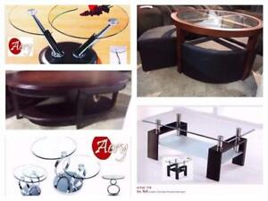 Furniture Warehouse:Coffee tables,Bedroom Sets, Dinette,  Sofas, Custom made also available Call: 416-743-7700