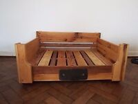 Hand made reclaimed wood large dog bed. Stunning!