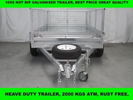 10x6 HOT DIP GALVANISED TRAILER HEAVY DUTY  WITH 5 NEW TYERS
