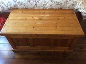 Baltic Pine Wooden Blanket Box Port Melbourne Port Phillip Preview