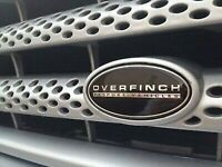 Range Rover Sports grill with over finch badges fitted