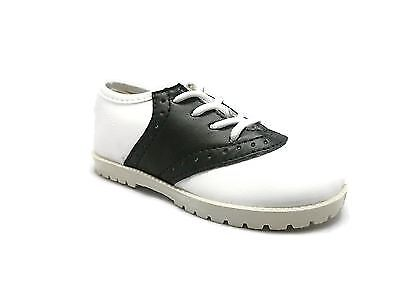 NEW BLACK & WHITE Saddle Shoes PITTER PATTER Boys/Girls Infant/Toddler Size 1-10 1 Infant Toddlers Black Shoes