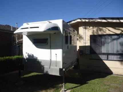 SLIDE ON CAMPER WITH TOILET & SHOWER ON 2005 FORD TRANSIT Cardiff Heights Lake Macquarie Area Preview