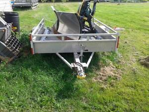 Aluminum Trailer 6x8ft with ramp tailgate