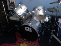 GREAT DEAL!!! CB DRUM KIT 5pc w/CYMBALS & THRONE