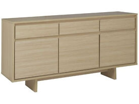 HOME Linear 3 Door 3 Drawer Sideboard - Light Oak
