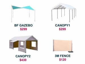Outdoor furnitures umbrella gazebo canopy fence tent marquee Sunshine West Brimbank Area Preview