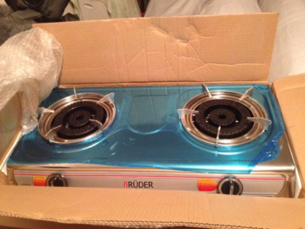 FREE DELIVERY BRAND NEW 2 BIG BURNER HEAVY DUTY GAS STOVE $55.99