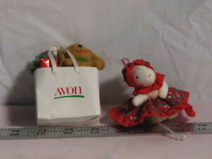 Two Vintage Avon Christmas ornaments