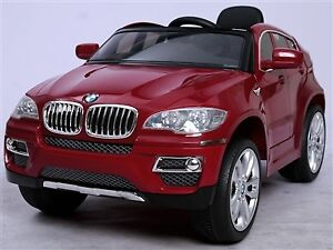 Licensed 12V BMW X6 Deluxe Child Ride-On Car with Doors, Leather